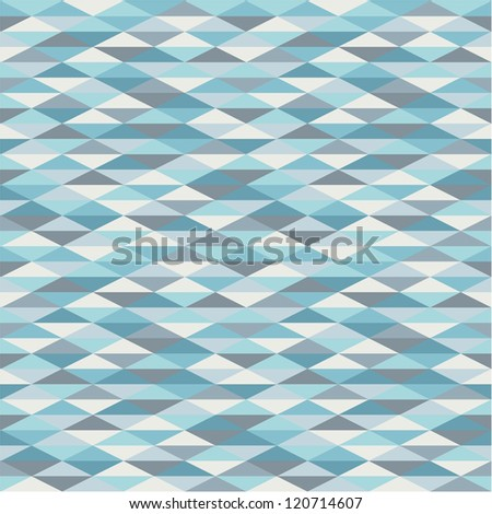 Seamless geometric background in blue tints