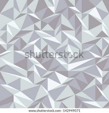 Seamless geometric background with triangular grid - stock vector