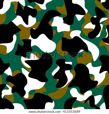 Seamless geometric bright camouflage pattern 20 - stock vector