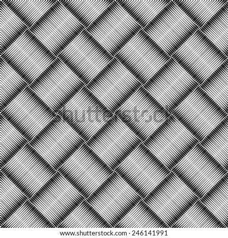 Seamless geometric checked texture. Vector art. - stock vector