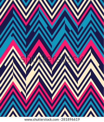 Seamless geometric color striped pattern background