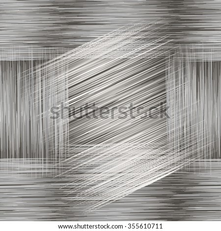 Seamless geometric grunge striped pattern in black,white ,grey colors - stock vector