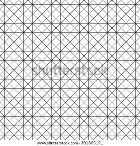 Seamless geometric intersecting line pattern - stock vector