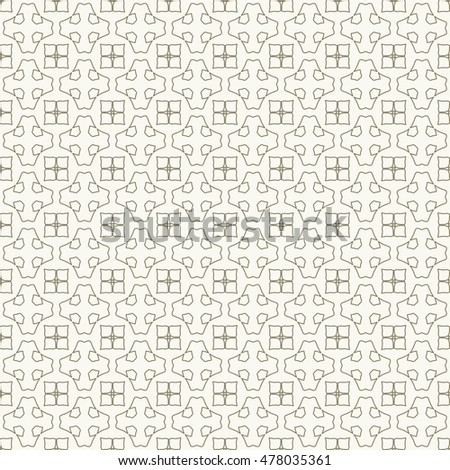 Seamless geometric line pattern, repeating texture. Seamless linear background. Contemporary graphic design, ethnic arabic, indian, turkish monochrome ornament. Seamless lace fabric pattern.
