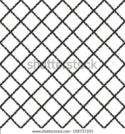 seamless geometric mesh pattern - stock vector