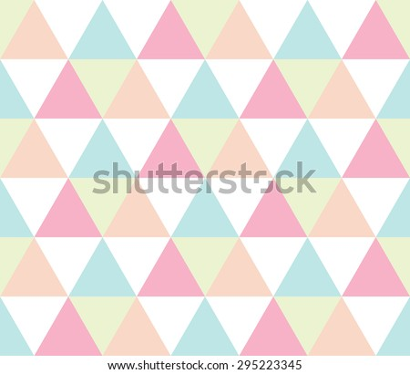 Seamless geometric pattern. Abstract triangle geometrical background. Vector illustration. - stock vector