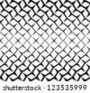 Seamless  geometric pattern background black and white - stock vector