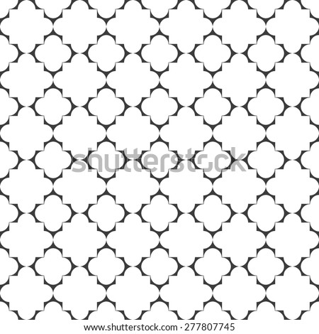Seamless geometric pattern in islamic style. Vector background - stock vector