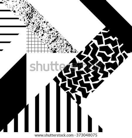 Seamless geometric pattern in modern abstract style 4 - stock vector
