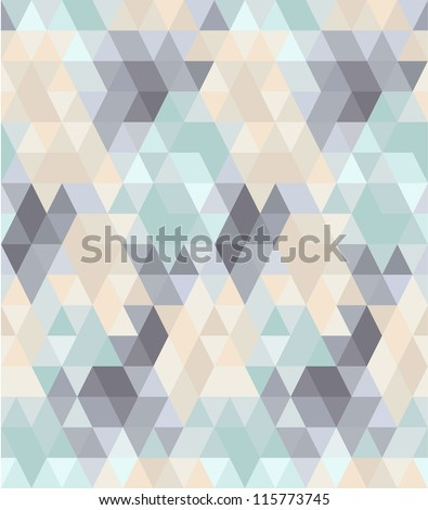 Seamless geometric pattern in pastel tints #1 - stock vector