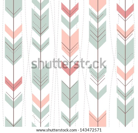 Seamless geometric pattern in retro style - stock vector