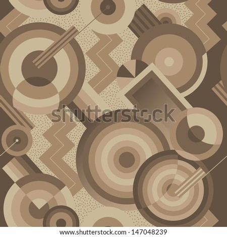 Seamless geometric pattern in retro style Art Deco - stock vector
