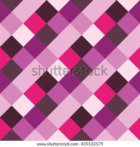 Seamless geometric pattern. Madras check pattern with lily, lilac, pink. Digital print for wallpaper, wrapping paper, fabric, textile, scrap booking, apparel, web design.Vector seamless background.