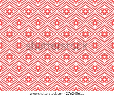 Seamless Geometric Pattern of Ancient Chinese Decorations. Usually Found on Ancient Chinese Antiques. Red Pattern on White Background.