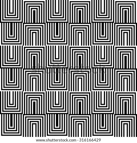 seamless geometric pattern of black and white zigzag