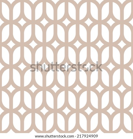 Seamless geometric pattern of circles line on a white background.  Abstract geometric texture. - stock vector