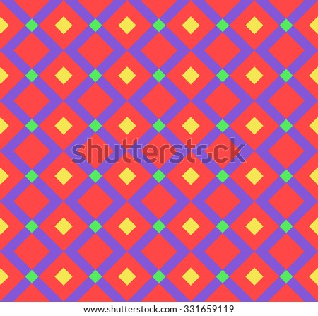 Seamless geometric pattern of colorful rhombuses.