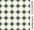 Seamless geometric pattern on vector fabric texture - stock photo