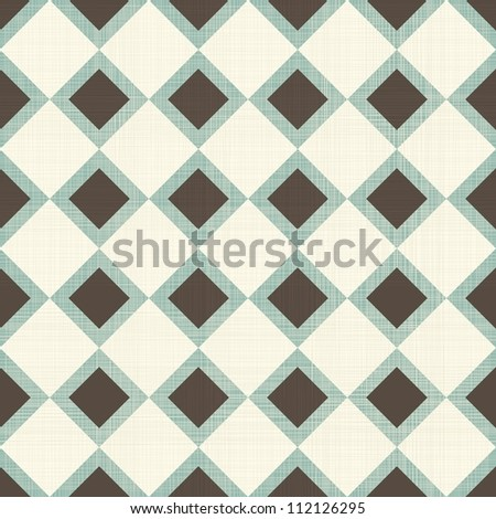 Seamless geometric pattern on vector fabric texture - stock vector