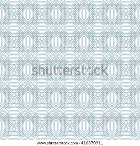 Seamless Geometric Pattern on White Background. Illustration of Tangier Grid, Abstract Guilloche Background. Texture for print, home decor, textile, wrapping paper. Vector Illustration. - stock vector