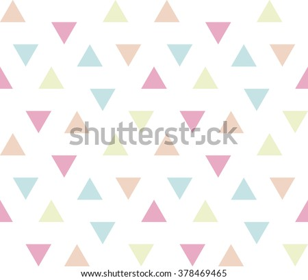 Seamless geometric pattern. Seamless abstract triangle geometrical background. Infinity geometric pattern. Vector illustration. - stock vector