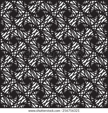 Seamless geometric pattern, simple vector black and white background, accurate, editable and useful background for design or wallpaper. - stock vector