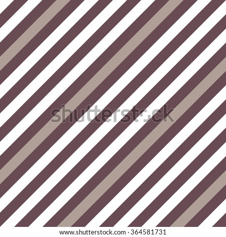 Seamless geometric pattern. Stripy texture for neck tie. Diagonal contrast strips on background. Brown, white, beige colors. Vector - stock vector