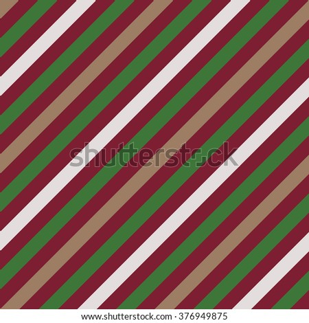 Seamless geometric pattern. Stripy texture for neck tie. Diagonal contrast strips on background. Green, vinous, beige colors. Vector - stock vector