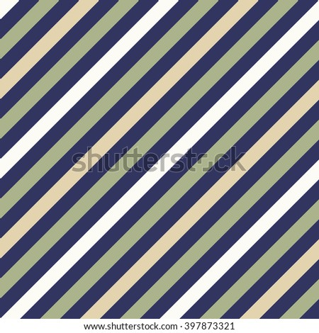 Seamless geometric pattern. Stripy texture for neck tie. Diagonal contrast strips on background. Gray, olive, beige soft colors. Vector - stock vector