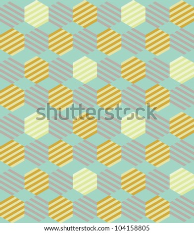 Seamless geometric pattern. Vector art illustration. - stock vector
