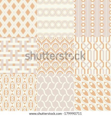 seamless geometric pattern vector set - stock vector