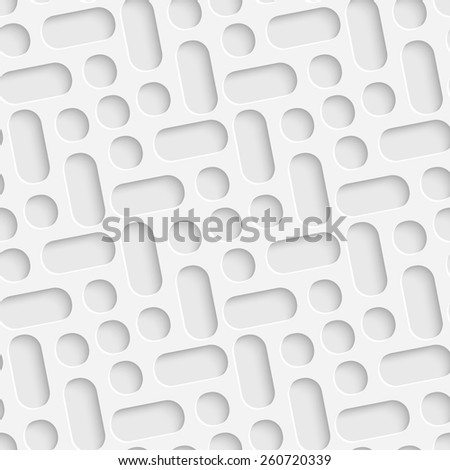 Seamless Geometric Pattern. Vector Soft Background. Regular White Texture - stock vector