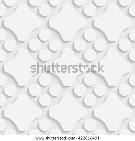 Seamless Geometric Pattern. Vector Soft Background. Regular White Texture