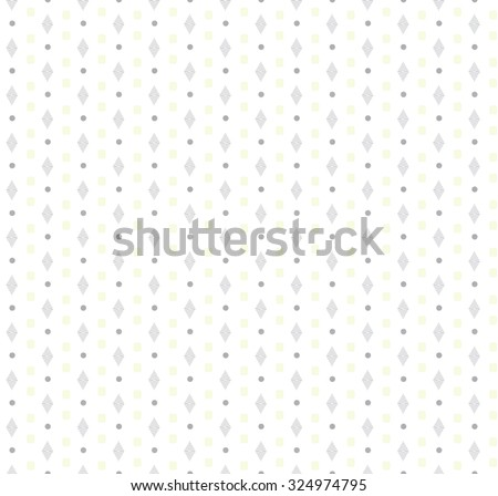 Seamless geometric pattern wallpaper yellow grey in vector