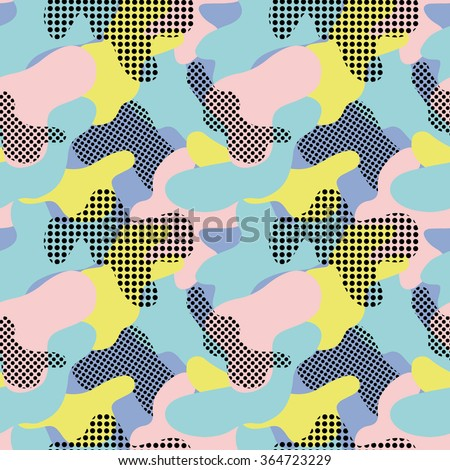 Seamless geometric pattern with abstract camouflage 1