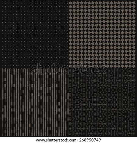 Seamless geometric pattern with halftone. Can be used in textiles, for book design, website background. - stock vector