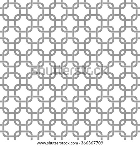 Seamless geometric pattern with interlocking rounded squares - stock vector