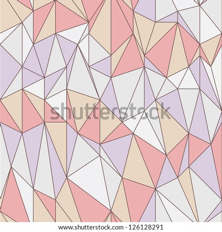 Seamless geometric pattern with triangular grid - stock vector