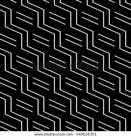 Seamless geometric pattern with zigzag lines. Vector art. - stock vector