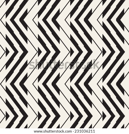 Seamless geometric pattern. Zigzag stripes. Vector graphic texture - stock vector
