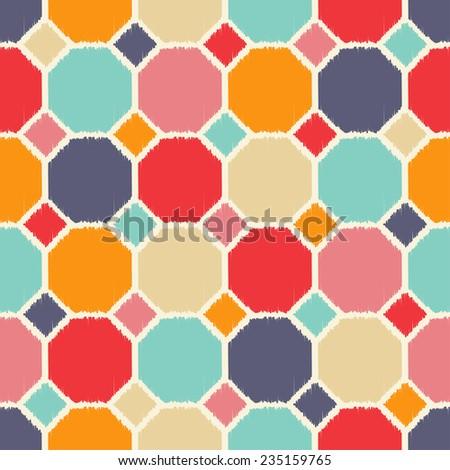 seamless geometric polygon pattern tiles - stock vector