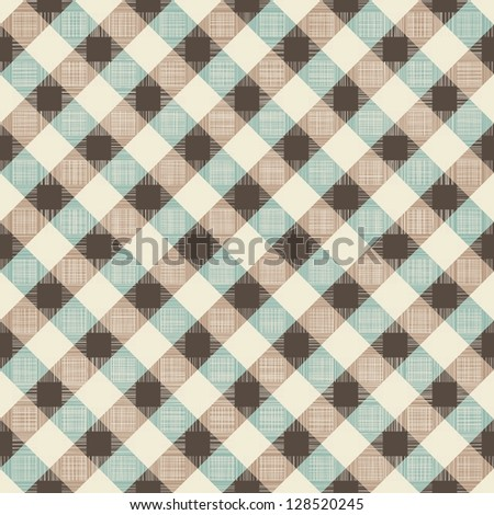 seamless geometric retro pattern - stock vector