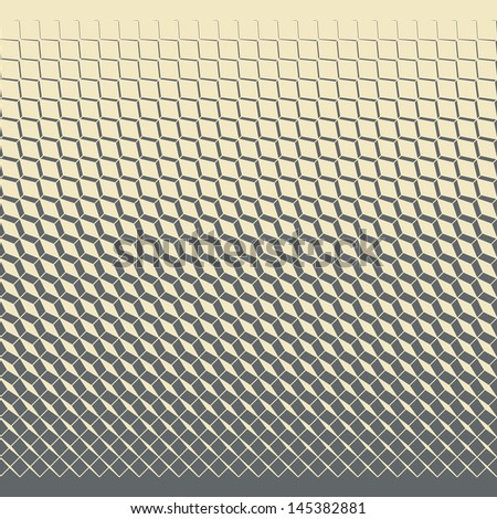 Seamless geometric rhombus pattern - stock vector