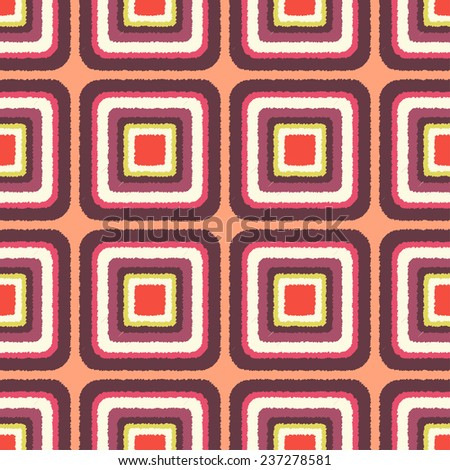 seamless geometric rounded corner square pattern - stock vector