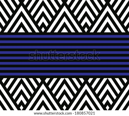 Seamless geometric striped vector pattern background - stock vector