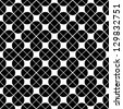 Seamless geometric tiles, vector seamless abstract background in black and white. - stock photo
