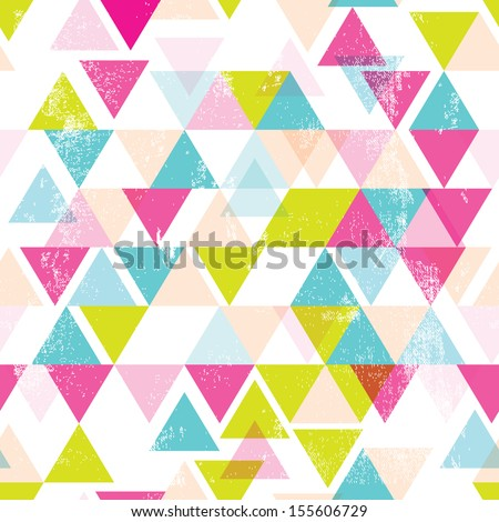 Seamless geometric triangle abstract background pattern in vector - stock vector