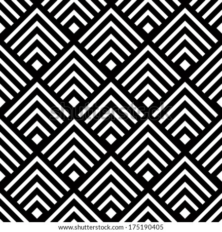 Seamless geometric vector background, simple black and white stripes vector pattern, accurate, editable and useful background for design or wallpaper. - stock vector