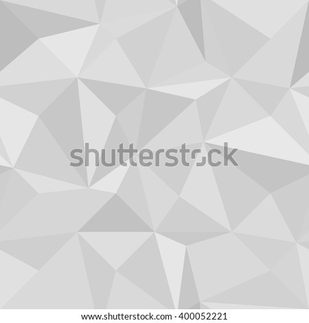 Seamless Geometric Vector gray Background of Triangular Polygons Pattern vector illustration - stock vector