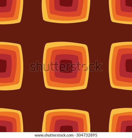 Seamless geometric vintage wallpaper vector illustration - stock vector